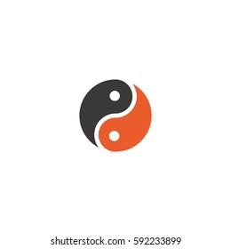 Yin and Yang vector symbol