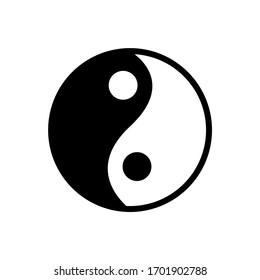 Ying yang black and white symbol of harmony and balance. Zen symbol icon.