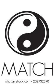 Ying yang match poster