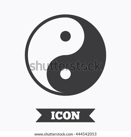 Ying Yang Sign Icon Harmony Balance Stock Vector Royalty Free