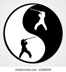 Ying Yang vector illustration