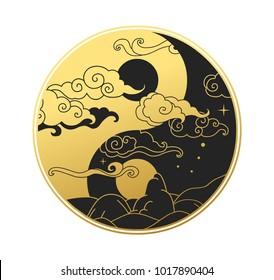 Ying&Yang symbol. Vector illustration