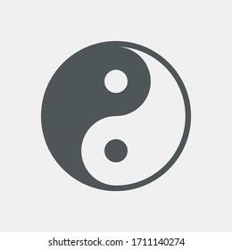 Yin-yang icon quality vector illustration cut