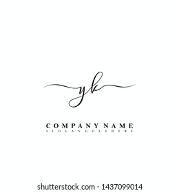 YK Initial luxury handwriting logo vector