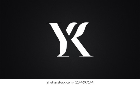 YK Letter Logo Design Template Vector