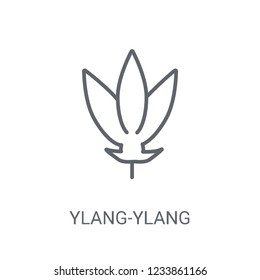 Ylang-ylang icon. Trendy Ylang-ylang logo concept on white background from Nature collection. Suitable for use on web apps, mobile apps and print media.