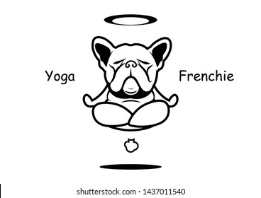 Yoaga Fart and Fly Frenchie The Bulldog. The French bulldog yoga professor show off his force of natural and then he can fly with his fart! This art can use for sticker mascot or any you want.