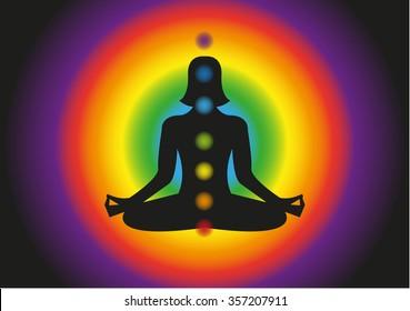 Yoga Background. Sport. Lotus. Logo. Symbol. Vector