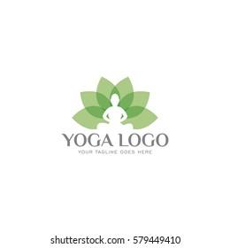 yoga concept logo icon vector template