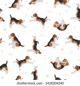 Yoga dogs poses and exercises. Bull terrier clipart. Vector illustration