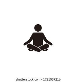 Yoga Fitness Icon. Flat Design Isolated Illustration.