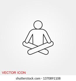 Yoga Fitness Icon vector sign symbol for design