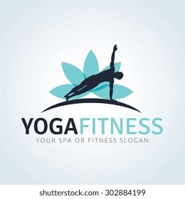 Yoga Fitness Logo Template