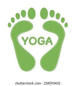 Yoga footsteps
