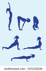 surya namaskar stock vectors images  vector art