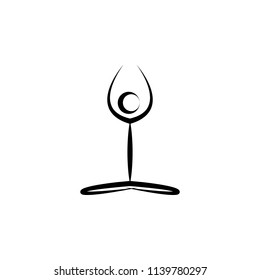 yoga icon. Element of healthy life icon. Premium quality graphic design icon. Signs and symbols collection icon for websites, web design, mobile app