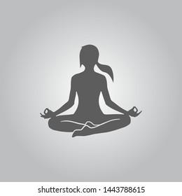 Yoga icon / yoga pose design vector