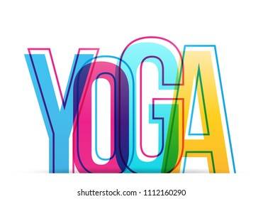 Yoga isolated vector illustration word