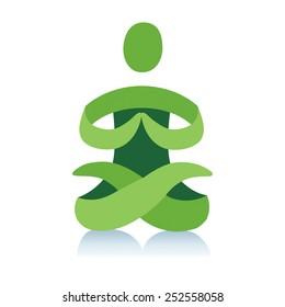 Yoga logo abstract vector icon
