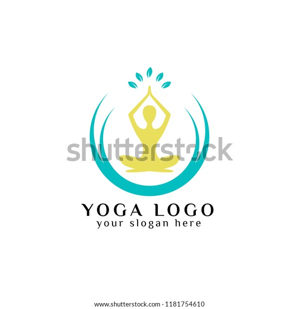 Yoga Logo Design Stock Human Meditation Stock Vector Royalty Free 1181754610