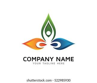 Yoga Logo Design Template