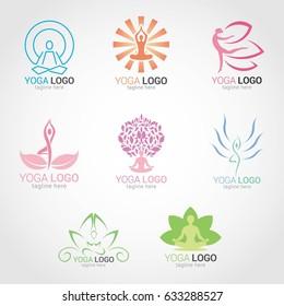 Yoga Logo Design Template. Vector Illustration