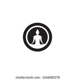 Yoga logo template vector icon design