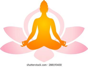 Yoga in lotus