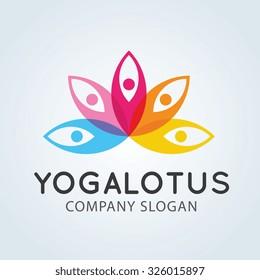 Yoga Lotus Logo Template