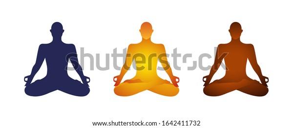 Yoga Lotus Pose Basic Clipart Character Stock Vector Royalty Free 1642411732