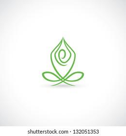 Yoga lotus pose - vector illustration