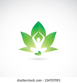 Yoga lotus - vector illustration