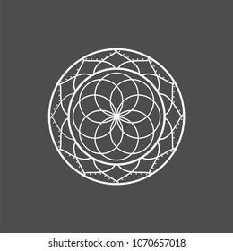 yoga mandala logo and icon religion