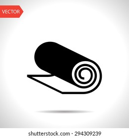 Yoga Mat Icon Images, Stock Photos & Vectors | Shutterstock