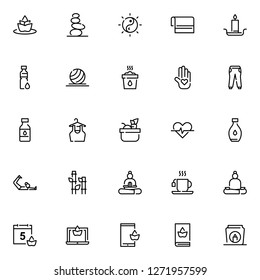 Yoga and mediation icons set. Yoga collection icons, meditation and relaxation symbols