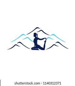 yoga nuture vector logo