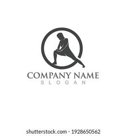 yoga people logo vector icon app
