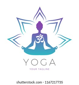Yoga Pose Color Icon Isolated