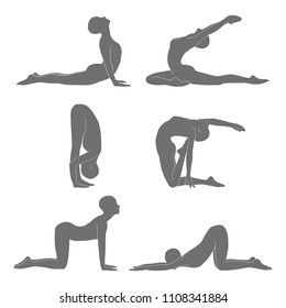 yoga cat cow pose stock illustrations images  vectors