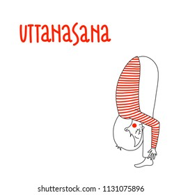 Yoga pose: Uttanasana or Standing forward bend pose
