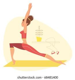 Yoga pose - warrior