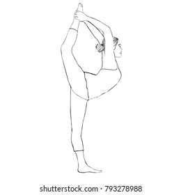 how to draw girls doing yoga