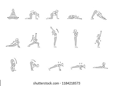 Yoga Drawing Images Stock Photos Vectors Shutterstock