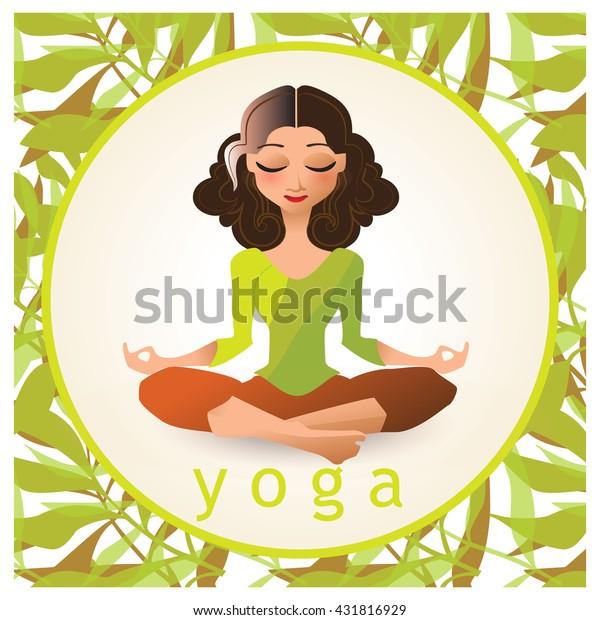 Yoga Poses Vector Illustration Made Cartoon Stock Vector Royalty Free 431816929