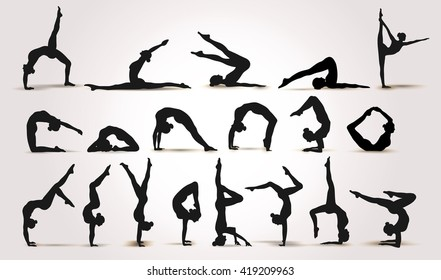 gymnastic poses images stock photos  vectors  shutterstock