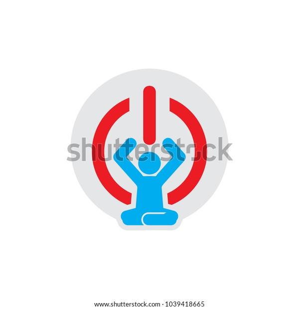 Yoga Power Logo Icon Design