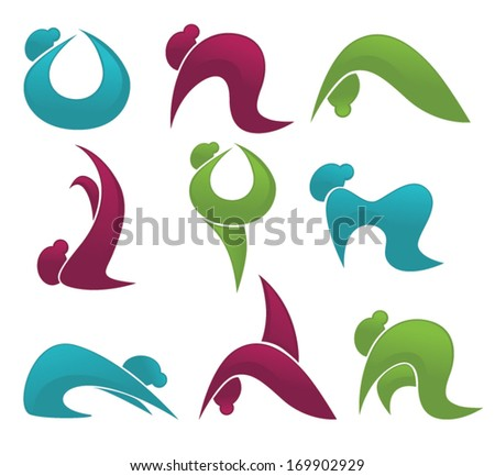 Yoga Practice Other Woman Exercise Vector Stock Vector Royalty Free
