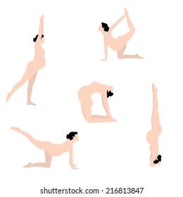 Pregnant women nude yoga