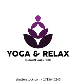 yoga and relax logo vector illustration