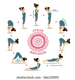 surya namaskar images stock photos  vectors  shutterstock